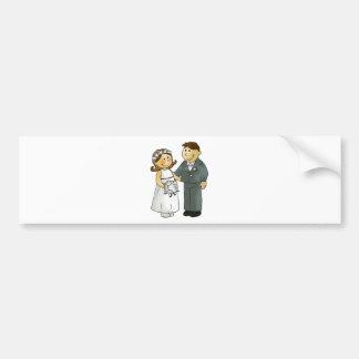 wedding bride and groom bumper stickers
