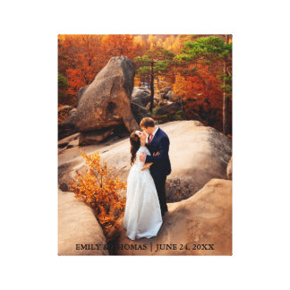 Wedding Bride and Groom Canvas Photo Print N D