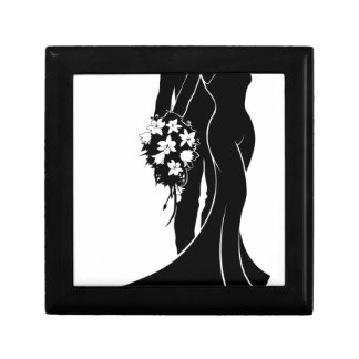 Wedding Bride and Groom Silhouette Gift Box
