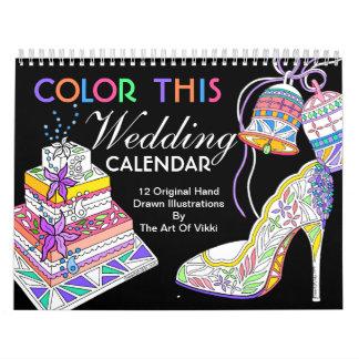 Wedding Bride Bridesmaid Color This Personalized Calendars