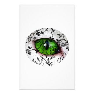 Wedding Bride Cool Elegant Girly Eye of Cat Personalized Stationery