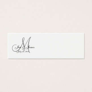 Wedding Bride Groom Date Monogram Profile Card