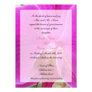 wedding bride s parent s invitation pink orchid personalized invite