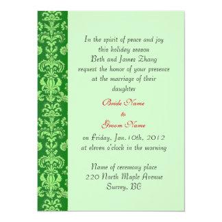 wedding, bride's parents invitation. 14 cm x 19 cm invitation card