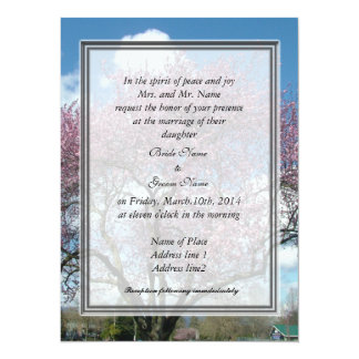 wedding, bride's parent's invitation cherry