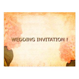 Wedding-Bronze-Postcard-Invitation-POSTAL-Template Postcard
