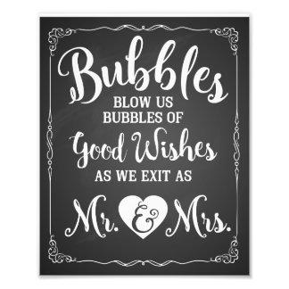 Wedding bubble sign wedding poster