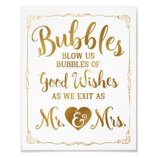 Wedding bubble sign wedding poster, gold wedding