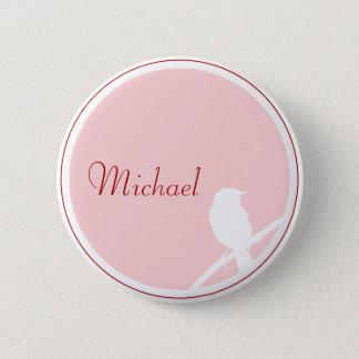 Wedding button as Tischkarte (pink red)