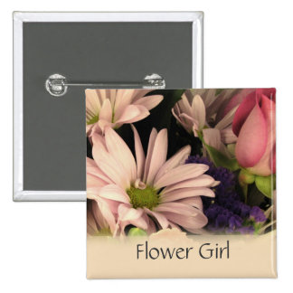 Wedding button for the Flower Girl