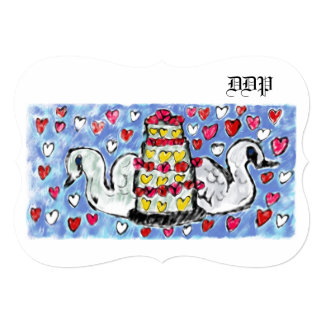 Wedding cake art two card