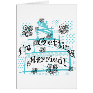 Wedding Cake Bride Tshirts and Gifts Greeting Cards