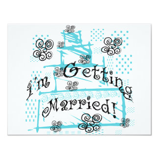 Wedding Cake Bride Tshirts and Gifts Custom Announcements