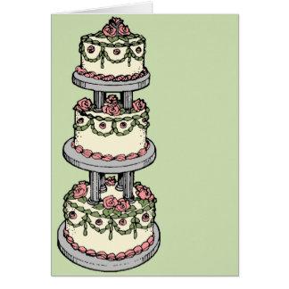 Wedding Cake - Customizable Color! Card