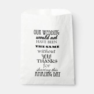 Wedding Cake / Favor Bags