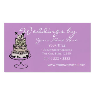 Wedding Cake Pack Of Standard Business Cards