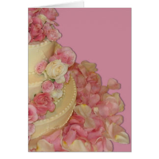Wedding Cake & Roses Greeting Card