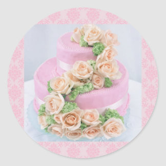 Wedding Cake Round Sticker