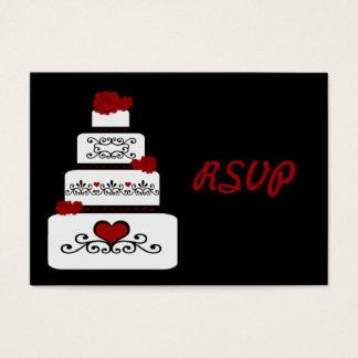 Wedding Cake RSVP Insert