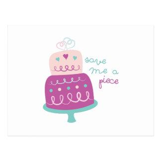 Wedding Cake Save Me A Piece Postcard