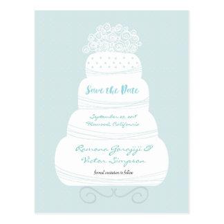 Wedding Cake Save the Date Card Postcard