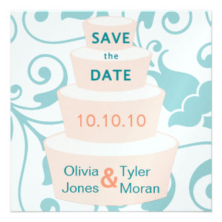 Wedding Cake Save the Date Custom Announcements