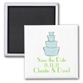 Wedding Cake Save the Date Fridge Magnet