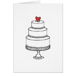 Wedding Cake Sketch - Plain Card