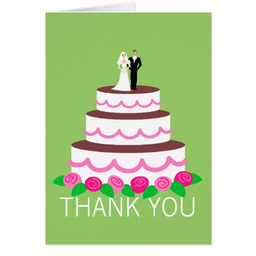 wedding cake thank you notes wedding cake thank you note cards greeting card zazzle 26246