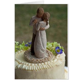 Wedding Cake Topper Greeting Card