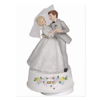Wedding Cake Topper Figurine Postcard