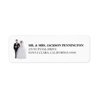 Wedding Cake Topper Return Address Label