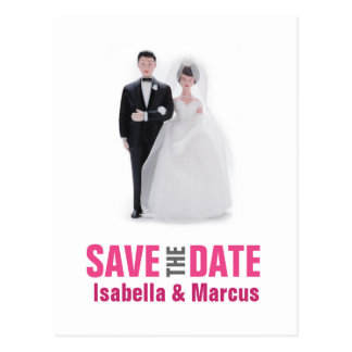 Wedding Cake Topper Save the Date Postcard