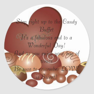 Wedding Candy Sticker