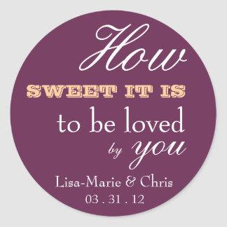 Wedding candy sticker