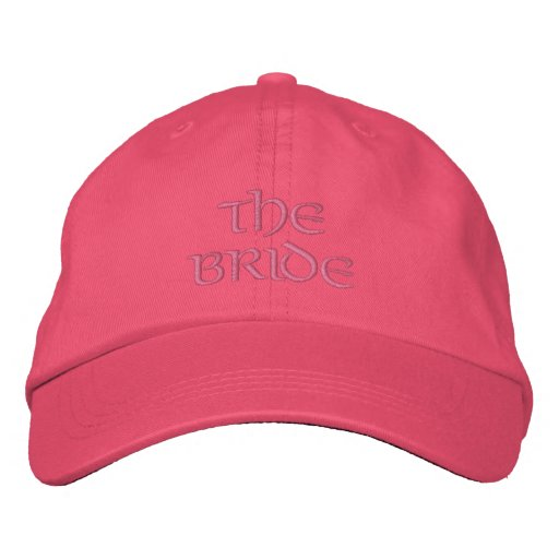 Wedding Cap-The Bride/pink Embroidered Hats