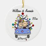 Wedding Car 1st Christmas Personalised Ornament