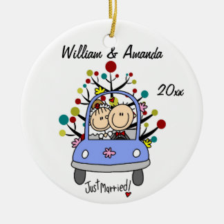 Wedding Car 1st Christmas Personalized Ornament