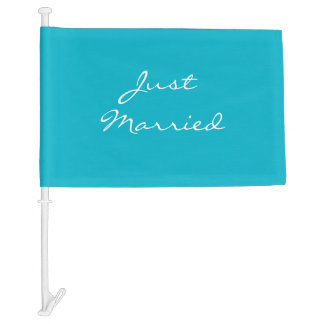Wedding Car Flag-Just Married Car Flag
