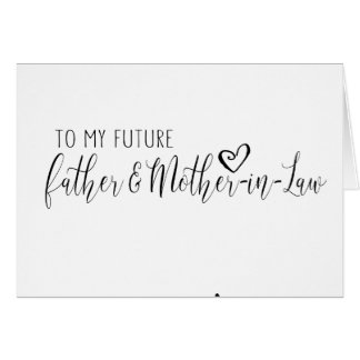 wedding card for the future Father & mother-in-law