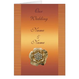 Wedding Card Save the Date Gold Diamond Gold Gem