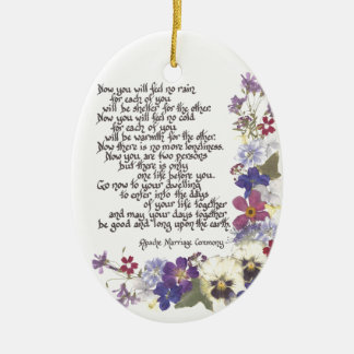 Wedding cards and gifts ceramic ornament