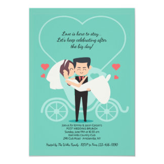 Wedding Carriage Post Wedding Brunch Invitation
