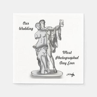 Wedding Cartoon 9417 Paper Napkins