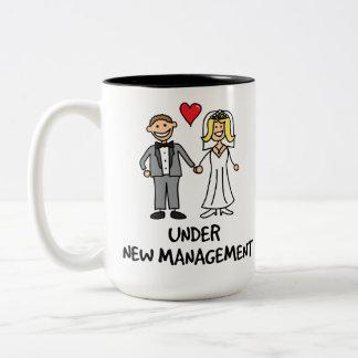 Wedding Cartoon - Under New Management Two-Tone Coffee Mug