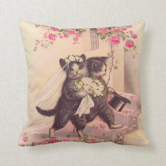 Wedding Cats Bride and Groom Cushion