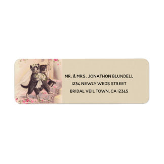 Wedding Cats Vintage Return Address Label