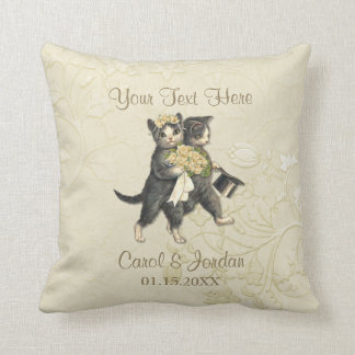 Wedding Cats Your Custom Text Cushion