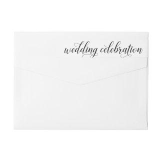 Wedding Celebration | Black and White Wrap Around Label