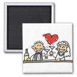 Wedding Celebration Fridge Magnets
